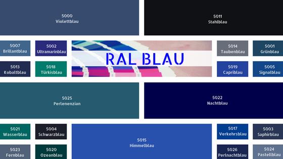 RAL Blau RAL Blautöne Farbe Blau RAL Karte Wandfarbe Blau
